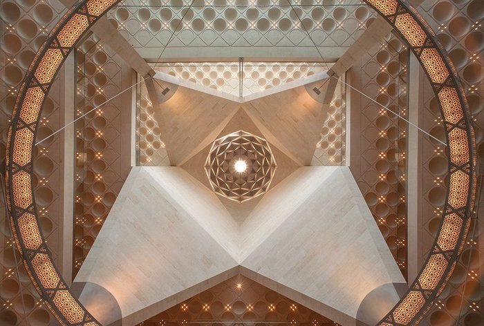 Doha Museum of Islamic Art by IM Pei photographed by Morley von Sternberg.