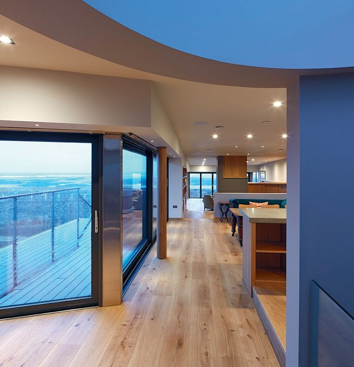 Generous windows maximise the seaside views.