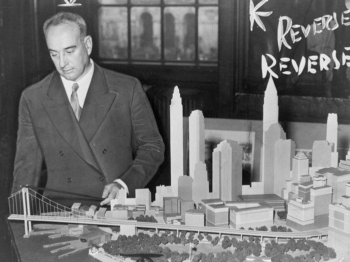 Robert Moses, the powerful head of New York urban renewal.