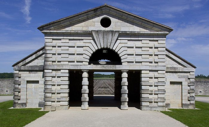 Gatehouse of the Saline Royale, Arc-et-Senans, Claude-Nicolas Ledoux