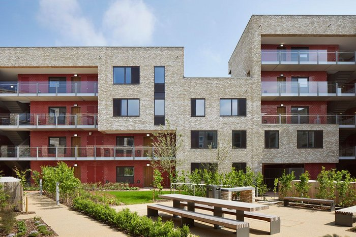 The NWCD team paired smaller practice Mole Architects with Wilkinson Eyre to deliver 70 flats in Lot 1.