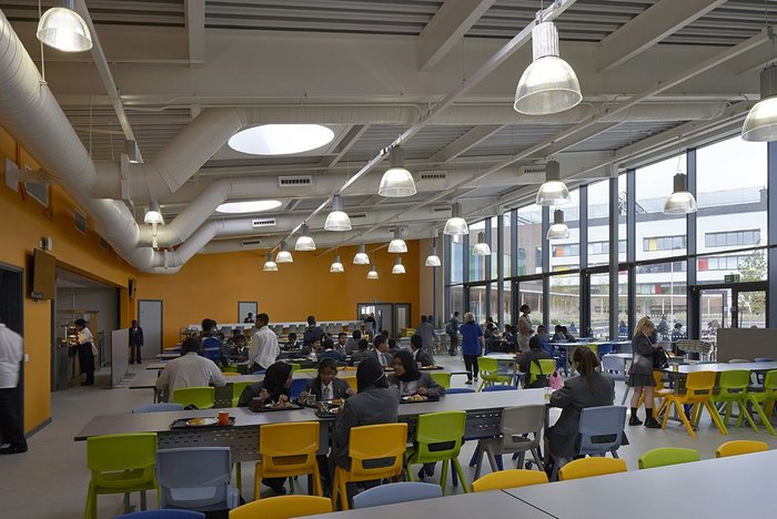 Cafeteria at Bow School