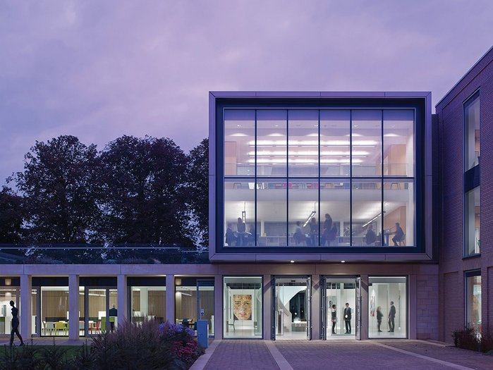 ORMS' Science Block for Uppingham School incorporates a helical stair and a Foucault's pendulum.