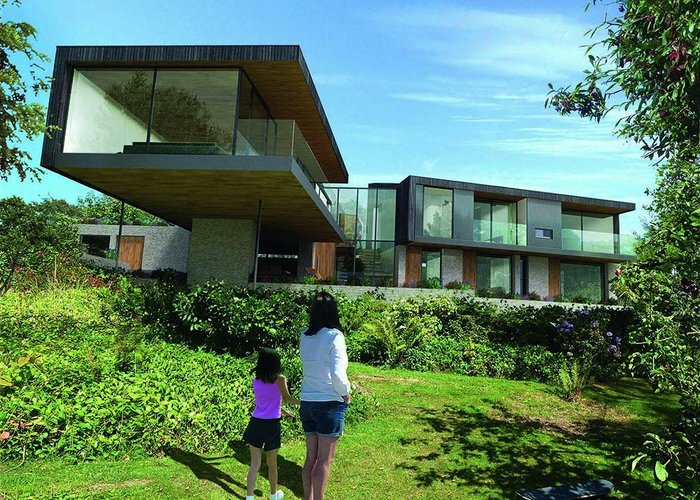 Completed this year, the Owers House in Feock, Cornwall, adopts a similar plan to Team 4's Creek Vean, which it overlooks