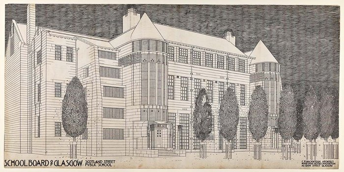 Design for Scotland Street School by Charles Rennie Mackintosh