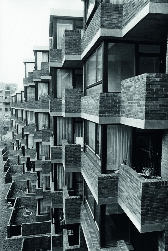 Darbourne and Darke's Lillington Gardens in Pimlico, a pioneering 1960s design, hugely influential in the 1970s
