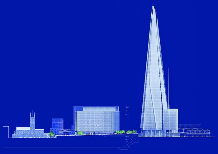 Piano's blueprint for London Bridge Quarter shows how the scale explodes upwards east of Southwark Cathedral.
