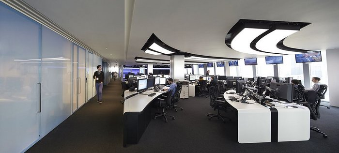 Al Jazeera newsroom, an occasional backdrop for filming