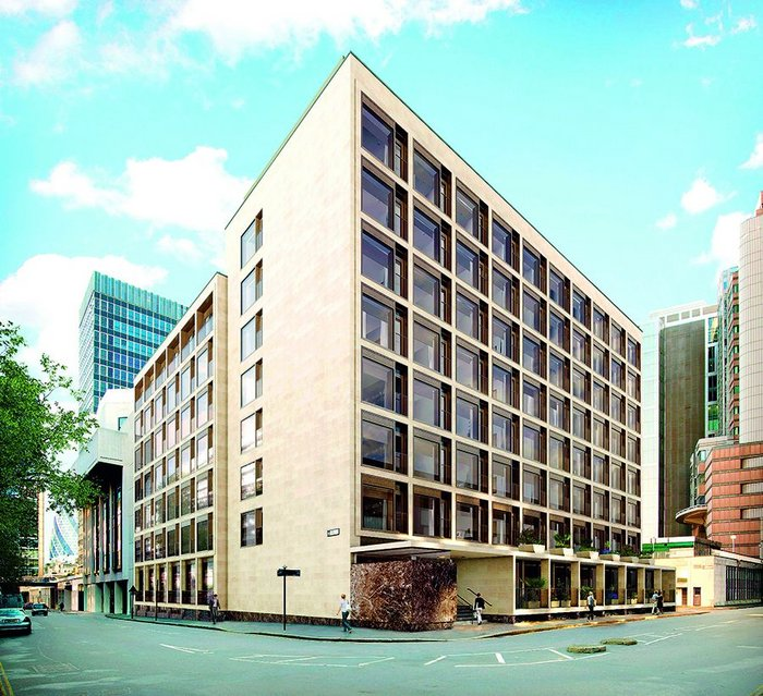 Berkeley Homes' Rowan House. City of London, exterior visualisation.