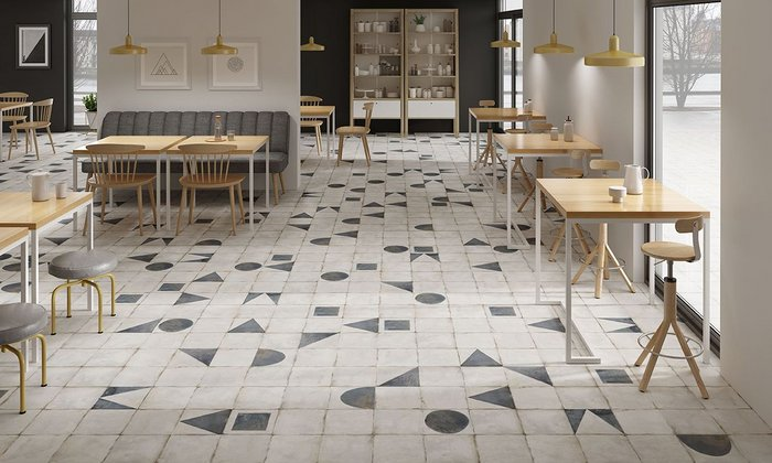 Maison Decor by Onset for the Harmony Signature Collection by Peronda – 22.3x22.3cm and 45.2x45.2cm porcelain wall and floor tiles available in six geometric designs. www.peronda.com