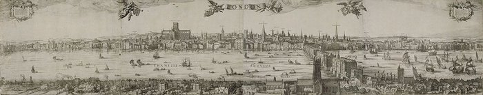 Visscher's panorama of London four hundred years on.