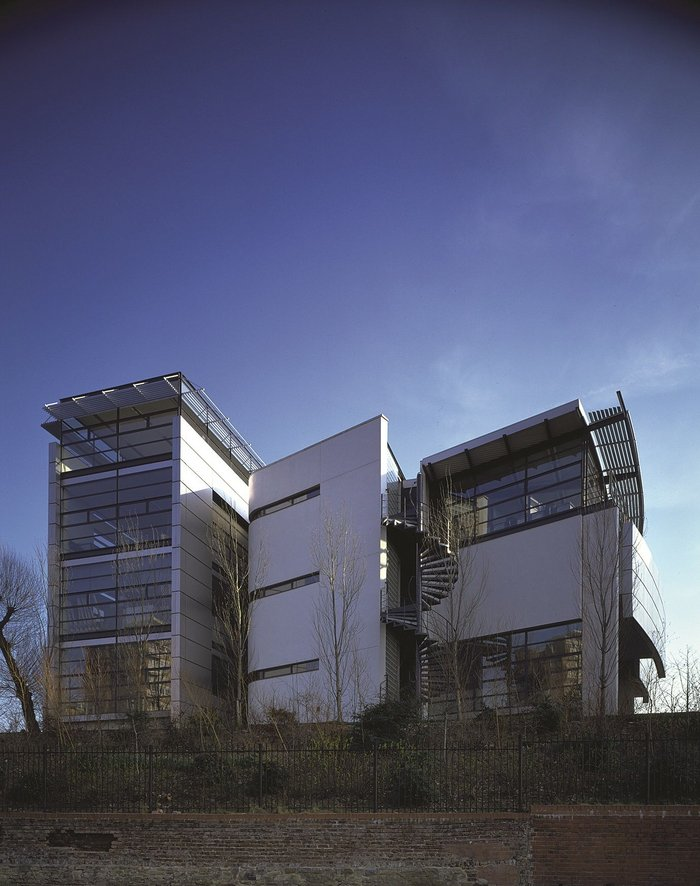 The first Stirling Prize winner in 1996: Centenary Building at the University  of Salford.
