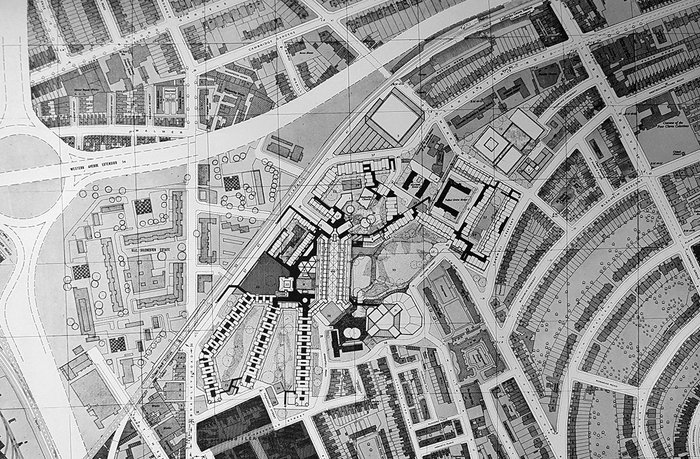 The original 28 acre masterplan by Clifford Wearden, from the architect's 1968 report.