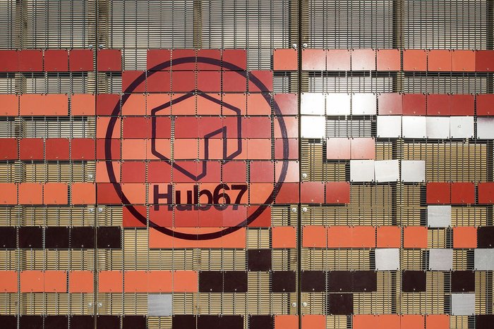 LYN Atelier's HUB 67. Cladding came in the form of the external finishing for the Olympic Training Centre.