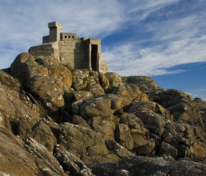 Hermit's Castle at Achmelvich in Scotland.