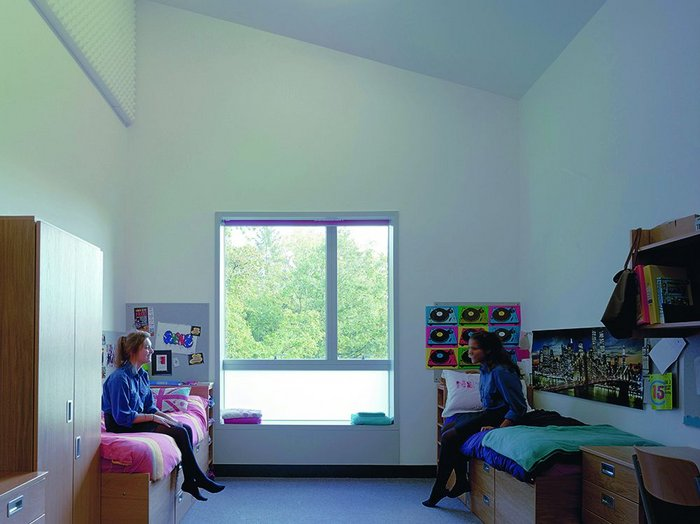 Deep sills to the large windows in the girls' bedrooms give another space to sit and chat in.
