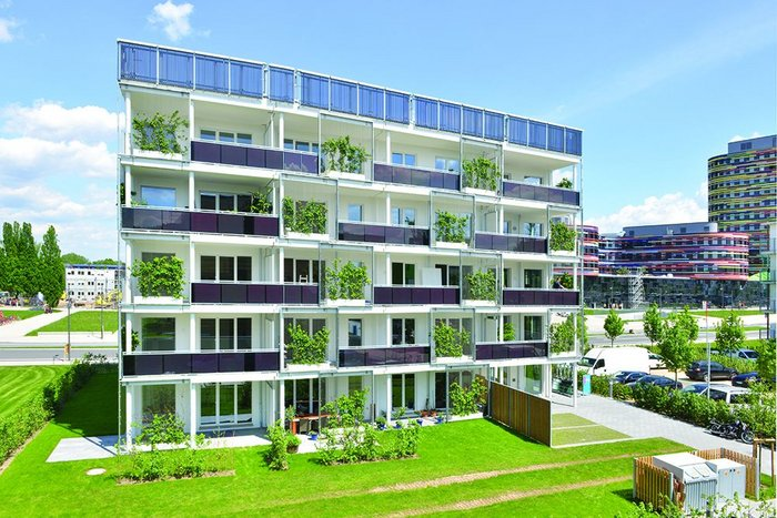 The Smart is Green block in Wilhelmsburg pioneers the use of phase change materials on a big scale.