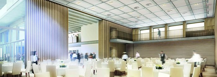 Duffield was determined spaces should be designed to realise their full community and commercial potential. The hall has been designed as a multi-purpose space