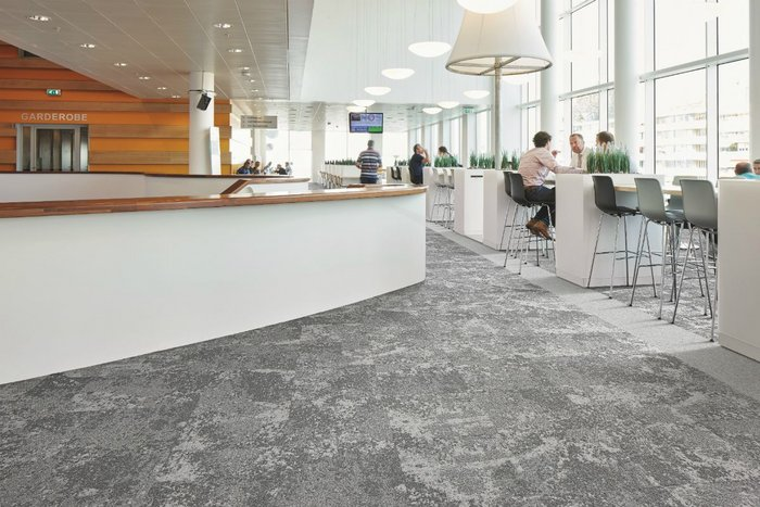 Forbo's Tessera Cloudscape carpet tiles offer specifiers a textured look and natural colour palette for relaxed and productive working environments.