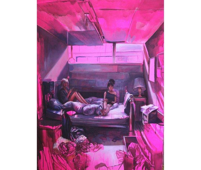 Laura Oldfield Ford: 'Tweed House, Teviot Street', 2012.