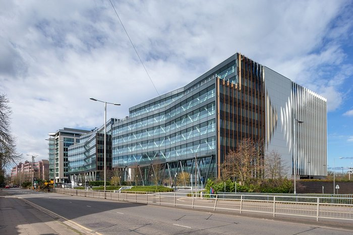 Aukette Swanke's Forbury Place in Reading features Ash & Lacy rainscreen cladding.