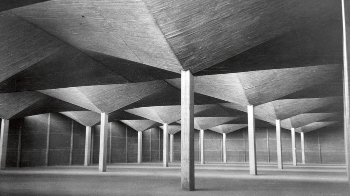 You can be ambitious with lean forms of concrete, as Felix Candela showed in Celestino Fernandez's warehouse, Colonia Vallejo, Mexico.