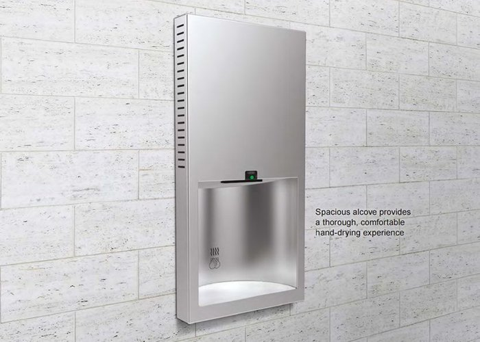 TrimLineSeries B-3725 recessed hand dryer