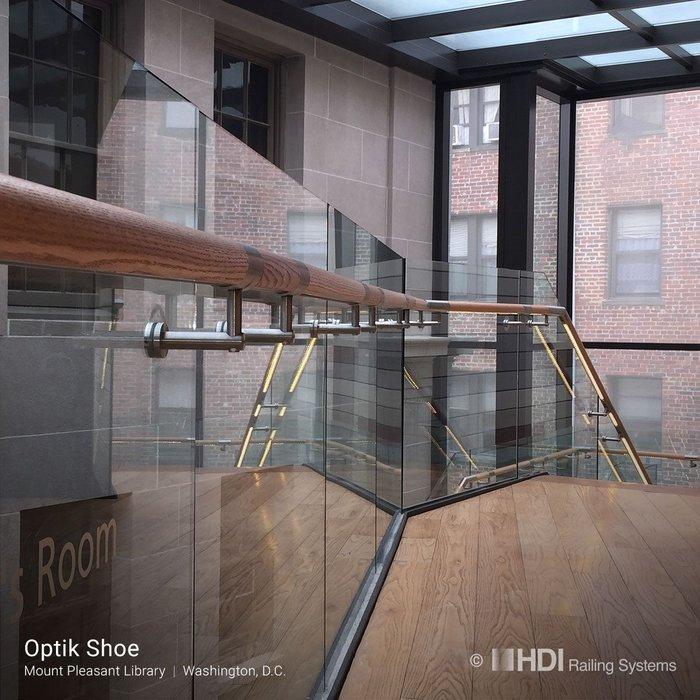 Optik Shoe balustrade design at Mount Pleasant Library, Washington DC.