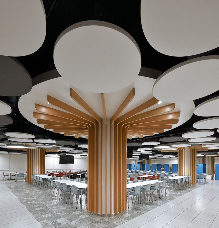 Topiq Sonic frameless acoustic ceiling rafts from Knauf AMF