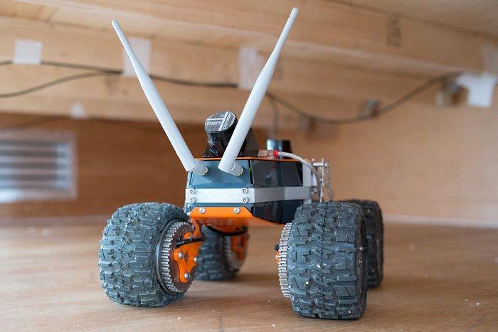 Q-Bot ready to start work in the floor voids