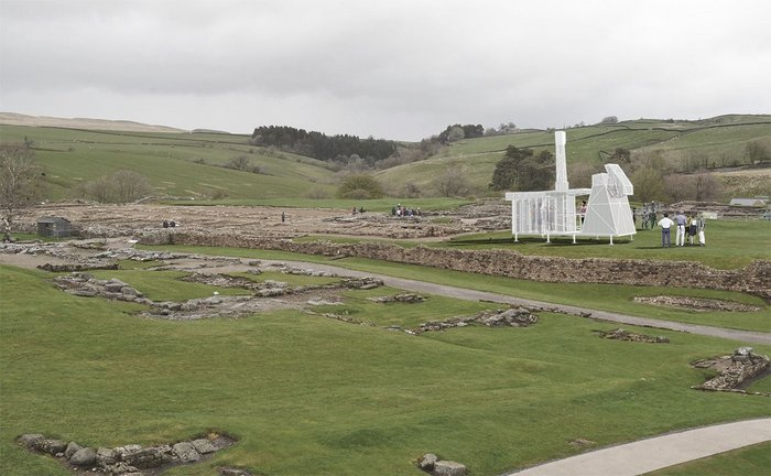Visual of the Mansio, designed by Matthew Butcher, at Hadrian's Wall.