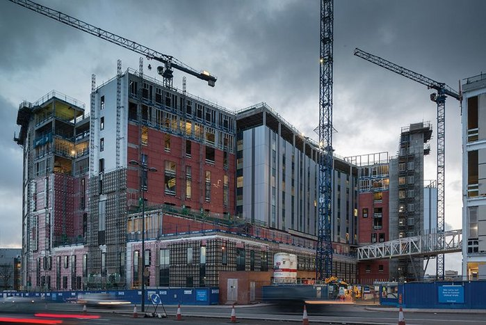 Royal Liverpool University Hospital under construction: a future component of regeneration.