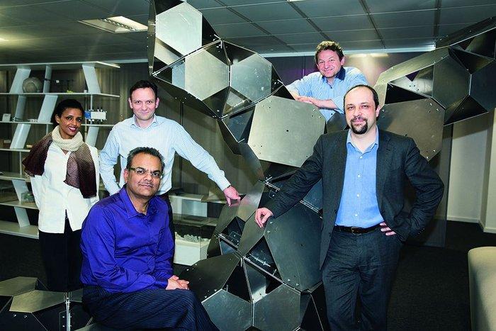 p.art initiates at AKT II – from left are Adiam Sertzu, Paul Scott, Hanif Kara (seated), Gerry O'Brien and Daniel Bosia.