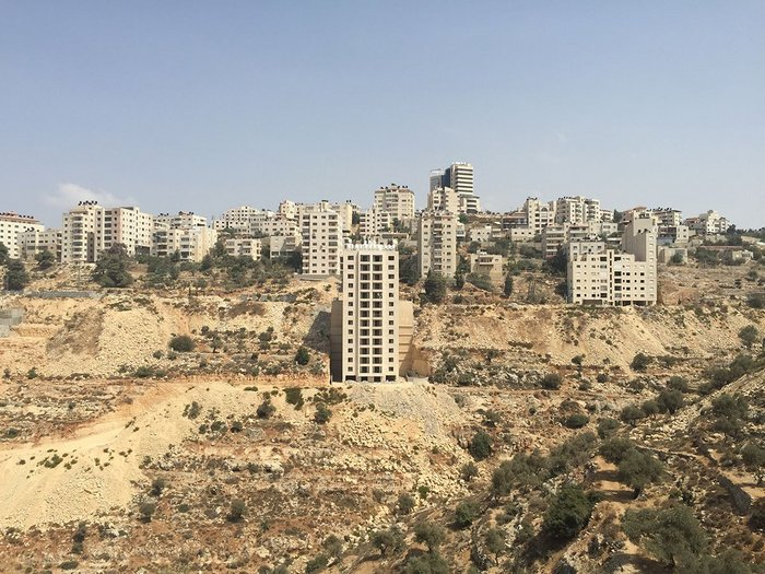 Learning from the West Bank: Housing developments outside Ramallah. Stone is used extensively as a cladding material.