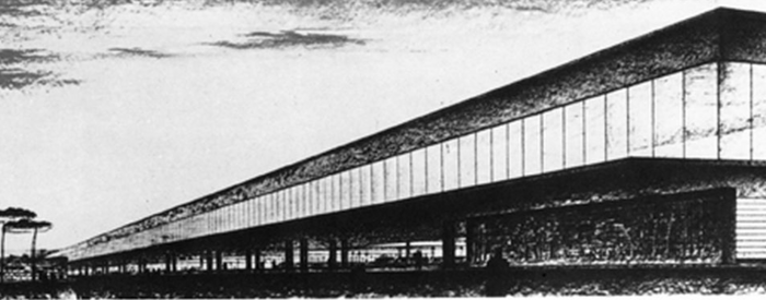 Termini Station Concourse, Angolo Mazzoni, first project (1937)