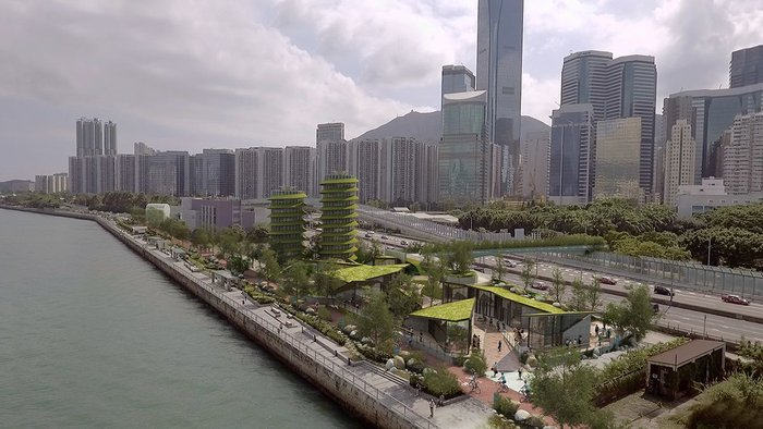 Lead 8's proposal for a zero carbon HarbourLoop at Quarry Bay in Hong Kong.