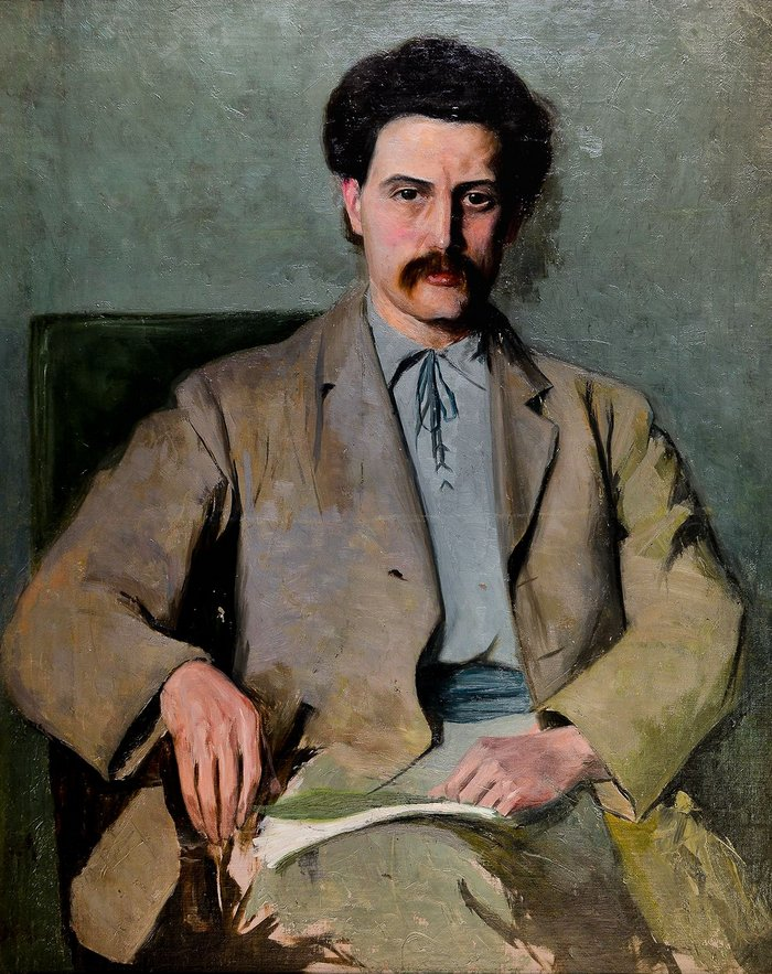 Oil portrait of Barry Parker (1867-1947), artist unknown. Courtesy of the Garden City Collection. From Barry Parker: Architecture for All at the Broadway Gallery in Letchworth.