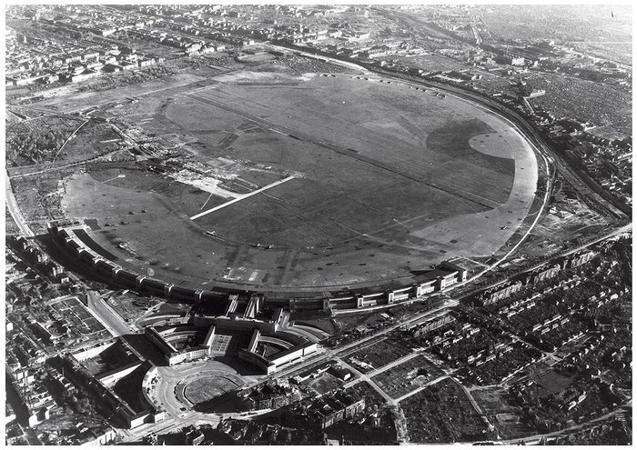 Tempelhof from above, circa 1948.
