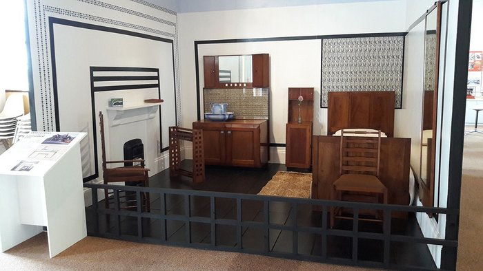 Charles Rennie Mackintosh's bedroom for Sidney Horstmann reassembled and back on view for the first time in 50 years.