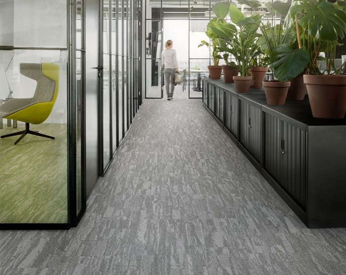 Walking on air: Tarkett's Desso Harvest carpet tile is available in a choice of 12 shades.