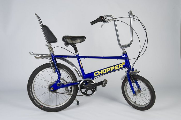 Chopper bicycle, designed by Tom Karen, who emigrated from Vienna to Britain in 1942. Jewish Museum, London.