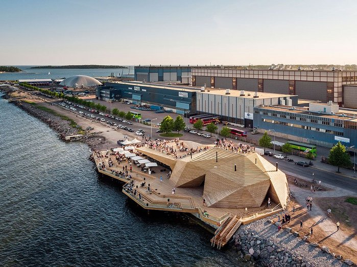 Löyly sits on the edge of an industrial area that will become residential in time.