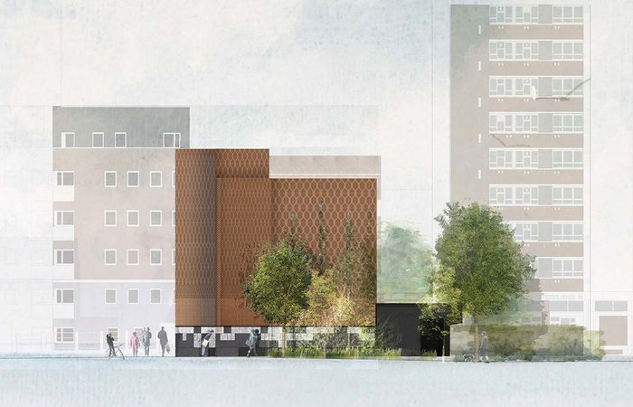 Bunhill 2 – district energy centre collaboration between Cullinan Studio and artist Toby Paterson.