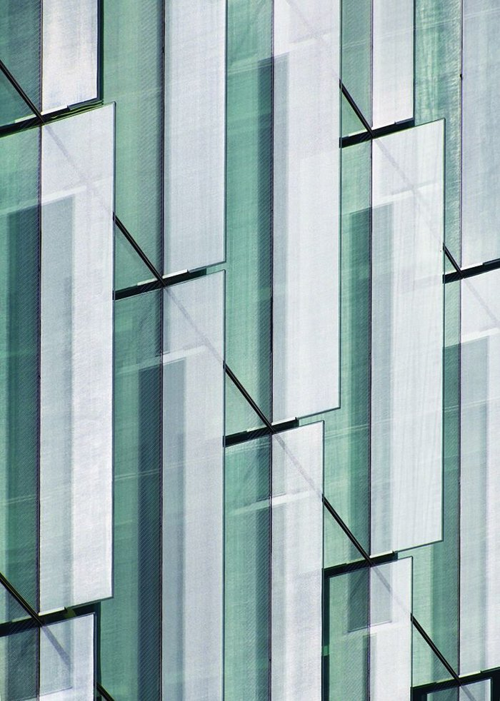 Vertical fins give dimensionality to Brock Street's facade and help reduce solar gain to the offices.