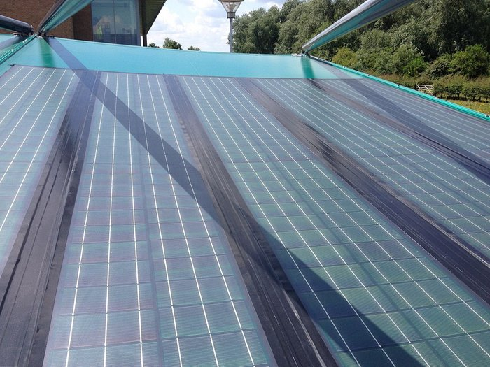 Solar cloth powers up building fabric ribaj for Solar system fabric panel