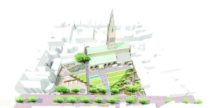 Gillespies' Cathedral Gardens will offer a softer setting for the Cathedral and give it a little more presence.