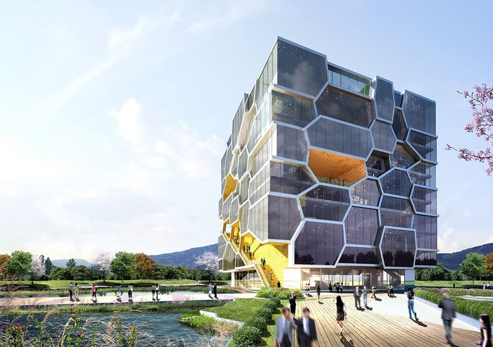 Competition entry for the UN Memorial building competition in South Korea in 2009.