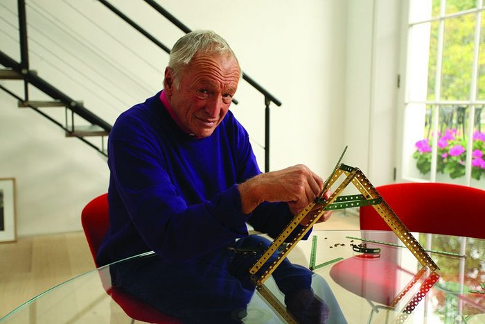 Architectural pioneer Richard Rogers, still busy with his Meccano set, features in the Architecture Gallery's opening show.