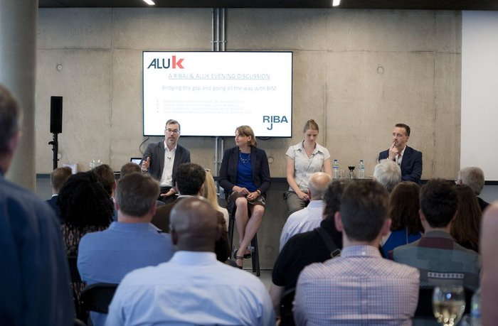 From left: AFL Architects' Marcel Ridyard, Cora Kwiatkowski, divisional director at Stride Treglown and Hannah Baker, senior architect at Twelve Architects, AluK's Nigel Headford
