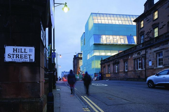 Glasgow School of Art's new Reid Building by Steven Holl Architects, page 24.